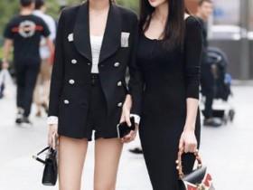 街拍:每个漂亮的女生都应该有一双一字带高跟凉鞋
